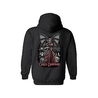 Unisex Hell's Guardian Grim Reaper Zipper Hoodie