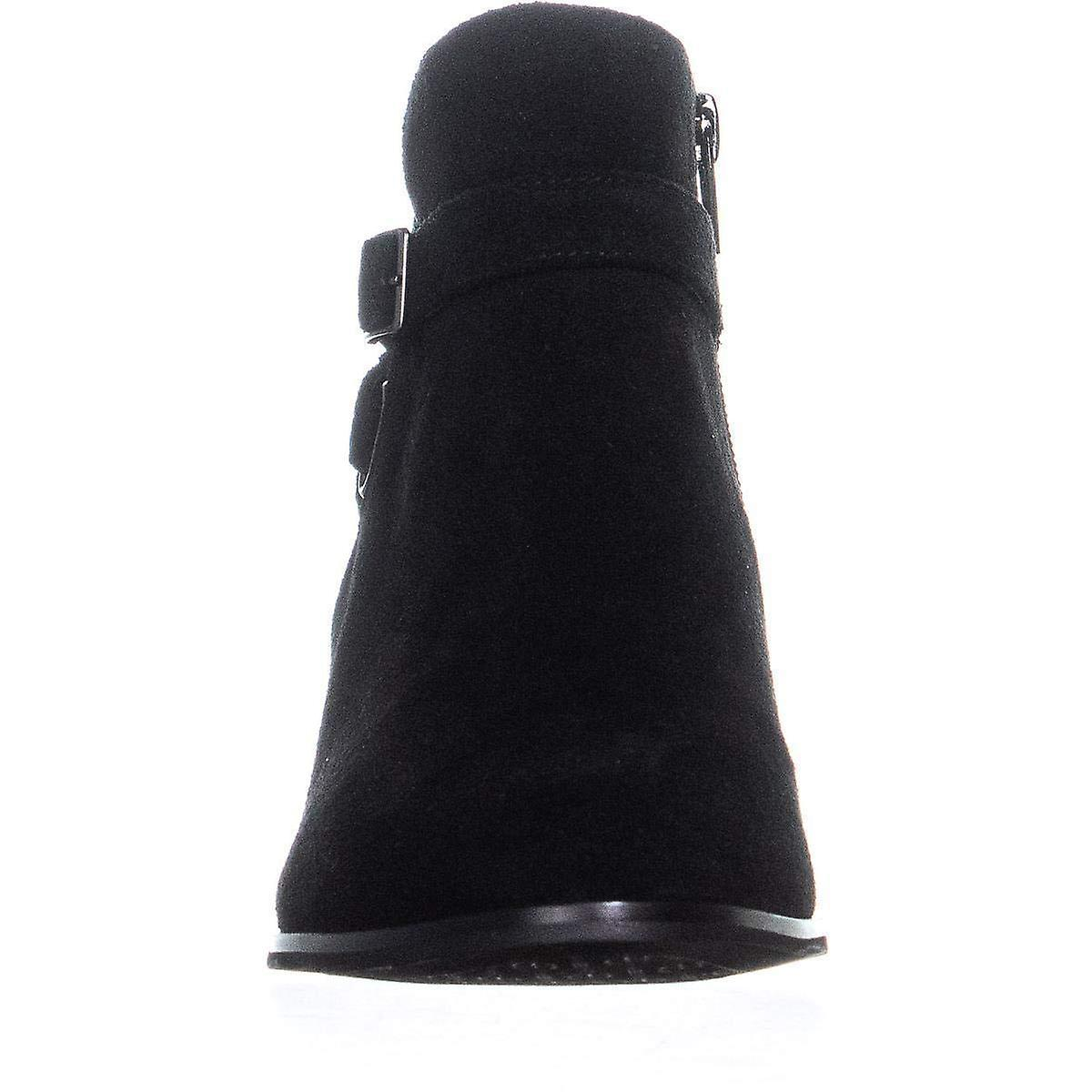 Giani Bernini GB35 Doriil Buckle Ankle Boots, Black Suede 4bl1q