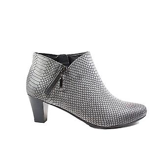 Tizian Leeds 03 Grey Leather Womens Heeled Ankle Boots