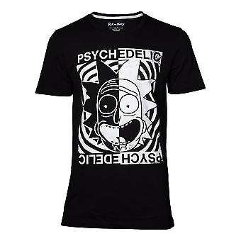 Rick and Morty Psychedelic T-Shirt Male XX-Large Black (TS370508RMT-2XL)