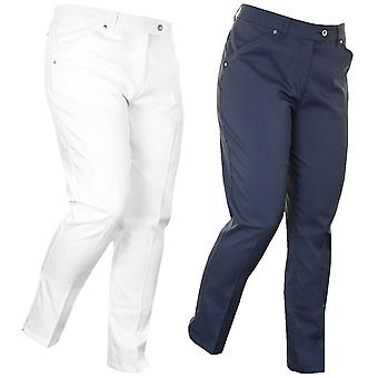 Island Green Golf Ladies Crop Performance Tech Pant Trousers