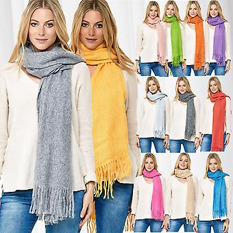 XXL Womens Scarf Cashmere Feeling Shawl Warm Soft Fringes Pashmina Cloth Blanket