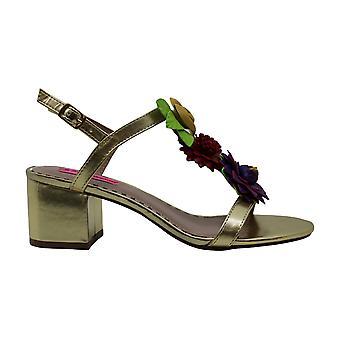 Betsey Johnson Womens Adde Fabric Open Toe Casual Slingback Sandals