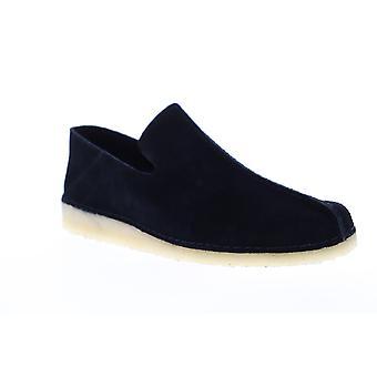 Clarks Ashton Skye menns svart Suede casual slip på loafers sko