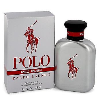 Polo Red Rush Eau De Toilette Spray By Ralph Lauren   545153 75 ml