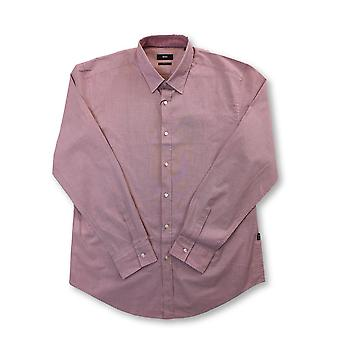 HUGO BOSS Ronni slim fit stretch cotton shirt in pink with dot pattern
