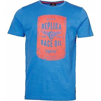 REPLIKA Replika Race Oil Print T Shirt