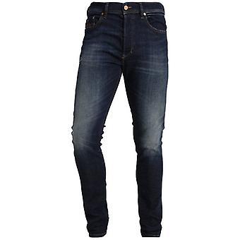 Diesel Larkee-Beex Stretch Washed Dark Blue Regular Tapered Jeans 069BM