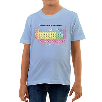 Reality glitch periodic table kids t-shirt