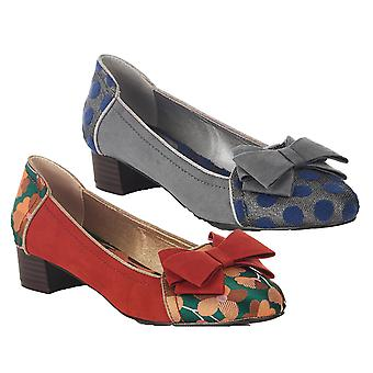 Ruby Shoo Women's Aurora Feature Bow Flat Shoes