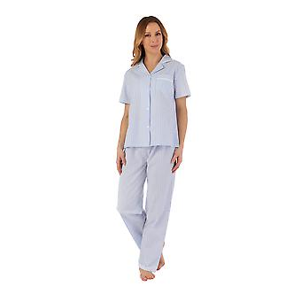 Slenderella PJ55225 Damen's gestreifte Pyjama Set