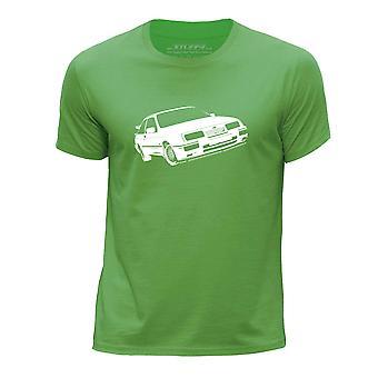 STUFF4 Boy's Round Neck T-Shirt/Stencil Car Art / RS500/Green