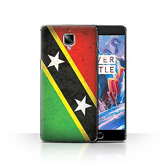 STUFF4 Case/Cover for OnePlus 3/3T/Saint Kitts & Nevis/Americas Flag