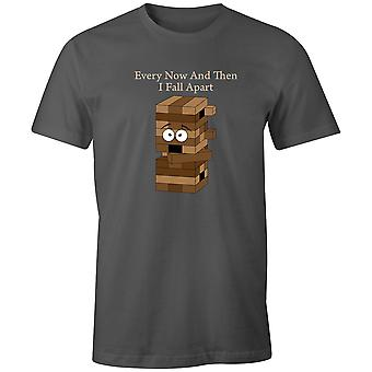 Boys Crew Neck Tee Short Sleeve Men's T Shirt- Every Now And Then I Fall Apart