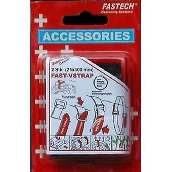 FASTECH® 688-330KC Haak-en-lus tape met riem Haak en loop pad (L x W) 300 mm x 25 mm Zwart, Red 2 pc(s)