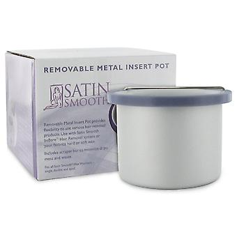 Satin Smooth Removable Insert Pot For Warm Creme Hard & Parffin Wax Heaters