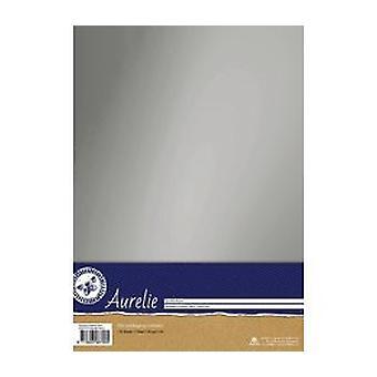 Aurelie Chromolux Cardstock Zilver