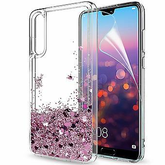 Huawei P30 - Flydende Glitter 3d Bling Shell sag