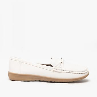 Amblers Paros dames loafers wit