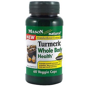 Mason natural tumeric whole body health, veggie caps, 60 ea