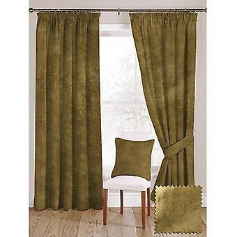McAlister tekstiler skinnende kalk grønn knust fløyel gardiner