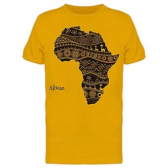 Tribal Map Of Africa Tee Men's -Image by Shutterstock
