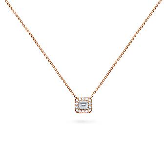 Necklace Mini Emerald Cut Diamond 18K Gold