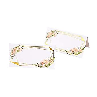 Geo Floral - Wedding Place Cards - 25 Pack
