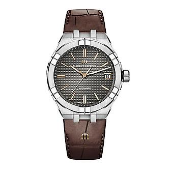 Maurice LaCroix Aikon Automatic 39mm Anthracite Grey Dial Brown Leather Strap Men's Watch AI6007-SS001-331-1 RRP £1,390