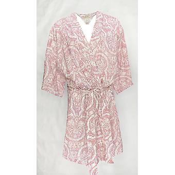 Natural Impressions Women's Robe Printed Short Sleeve Light Purple