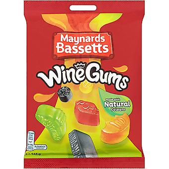 Maynards Bassetts Wine Gums 1.98kg, bulk sweets, 12 packs of 165g