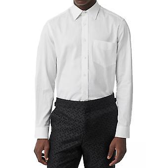 Burberry 8014400a7242 Heren's White Cotton Shirt