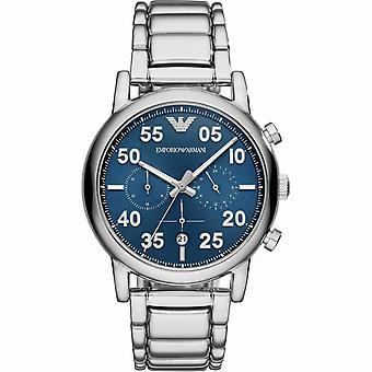 Emporio Armani AR11132 Blue Sunray Dial Steel Men's Watch