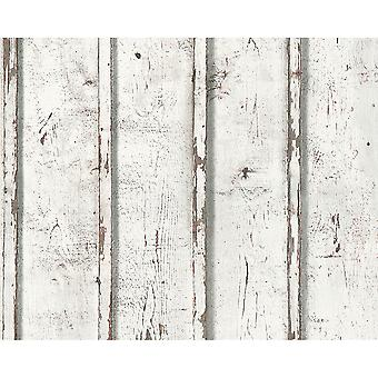 A.S. Creation AS Creation Painted Wood Panel Pattern Realistic Textured Non Woven Wallpaper