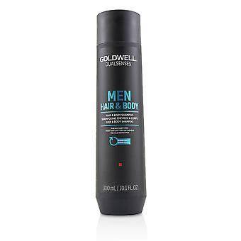 Dual sanser menn hår og kropp sjampo (for alle hårtyper) 215858 300ml/10.1oz