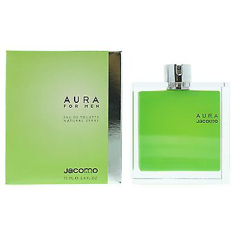 Jacomo Aura For Men Eau de Toilette 75ml Spray For Him