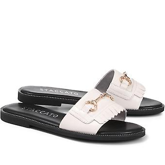 Staccato Womens Sutton Leather Slider Sandal
