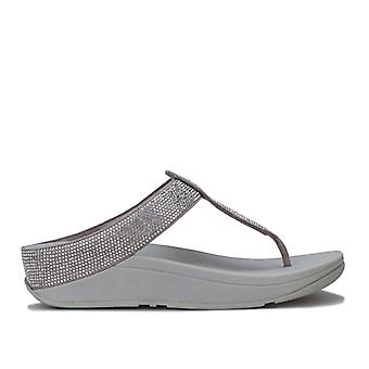 Women's Fit Flop Isabelle Toe Thong Sandals in Silver