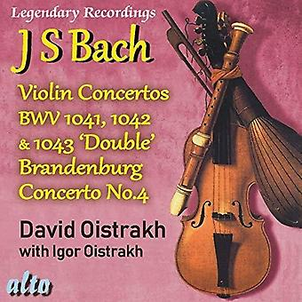 David Oistrakh - Bach Viool Cons 1 2 3 Plus Brandenburg Con No.4 [CD] USA import