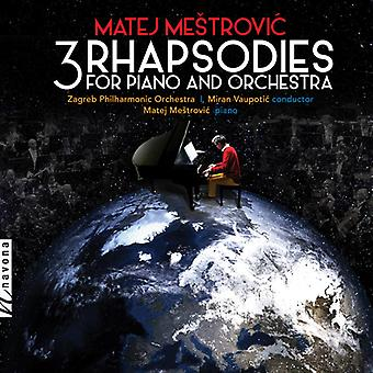 3 Rhapsodies For Piano & Orchestra [CD] USA import