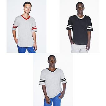 American Apparel Unisex Adults V-Neck Football T-Shirt