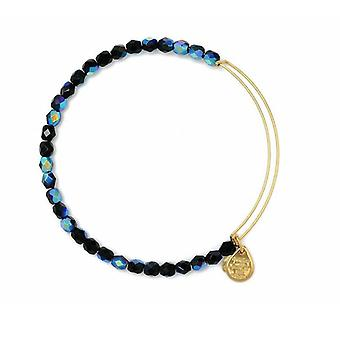 Alex and Ani Midnight Rock Candy Beaded Gold Bangle BBEB177G