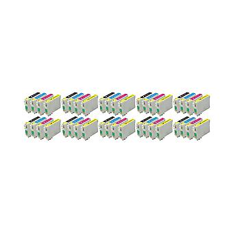 RudyTwos 10x Replacement for Epson TeddyBear Set Ink Unit Black Cyan Yellow & Magenta (4 Pack) Compatible with Stylus D68, D68 Photo Edition, D88, D88 Photo Edition, D88 Plus, DX3800, DX3850, DX3850 P
