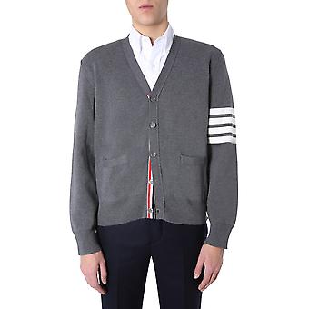 Thom Browne Mkc171a00219035 Men's Grey Cotton Cardigan