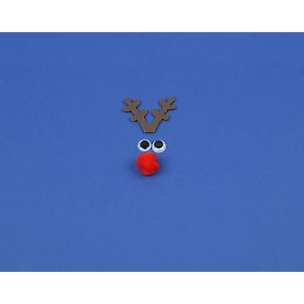 Kit to Make a Single Small Rudolph Reindeer Face