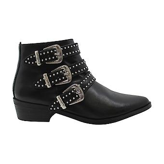 Aqua Womens BLANE Leather Studded Ankle Boots