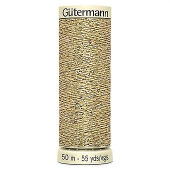 Gutermann Metallic Effect Sewing Thread for Hand and Machine 50m - Gold 24
