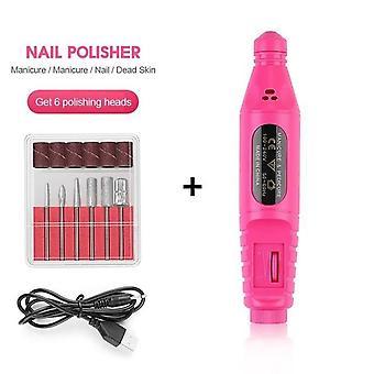 Kit de brocas de manicure elétrica unha - Remova a caneta de nail art de pedicure polonês
