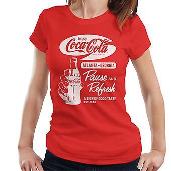Coca Cola tauko ja virkistää retro naisten ' s T-paita