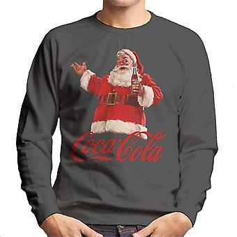 Coca Cola Weihnachten Santa Flasche Männer's Sweatshirt